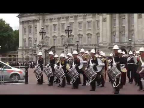 Royal Marines - Changing of the Guard at Buckingham Palace - 5th July 2014