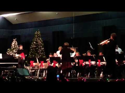 "Mesa Grande Academy Christmas concert.  Band- ""The final Countdown."""