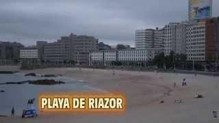 PLAYA DEL ORZAN Y RIAZOR, PASEO MARITIMO, A CORUÑA