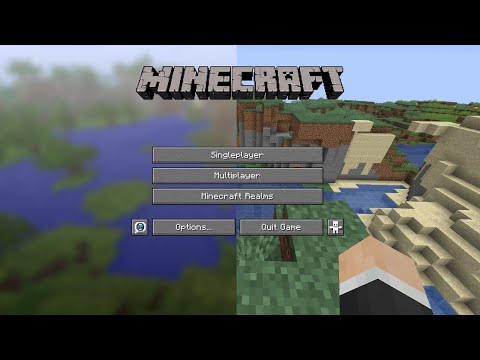 I Beat Minecraft On The Title Screen Seed...
