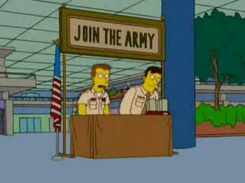 The Simpsons - Army - pt1