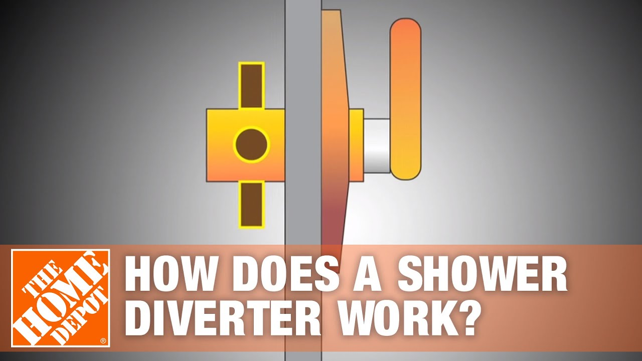 how does a shower diverter work the home depot