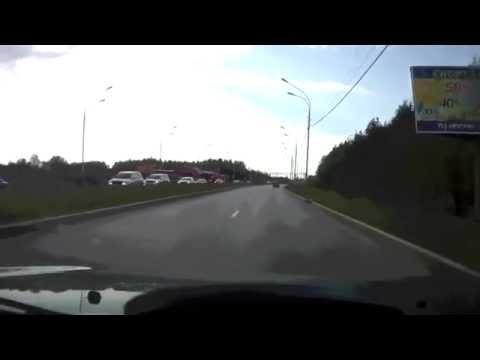 ДТП дорога Мегион Нижневартовск погоня гайцов за пьяным аварии. Видеосъемка  аварии 2014