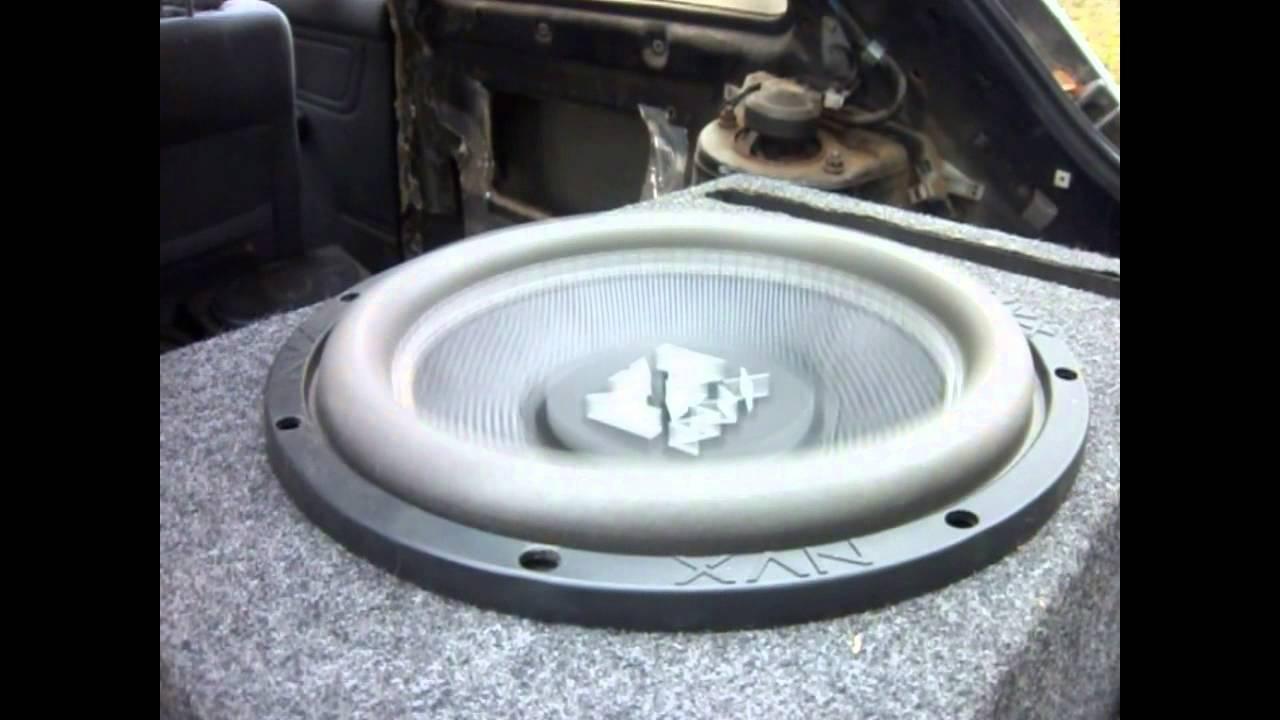 12\'\' NVX Audio Vsw Dual 4 ohm Subwoofer Testing on my Premier PRS ...