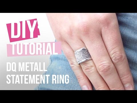 DIY TUTORIAL: Statement Ring aus DQ Metall mit Glitzertape - Selbst Schmuck machen
