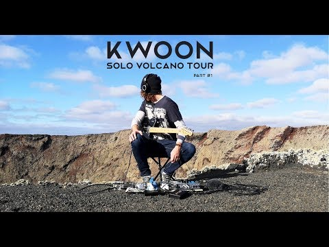 KWOON - Live Solo on VOLCANO In Lanzarote: Part I   Ambient Guitar