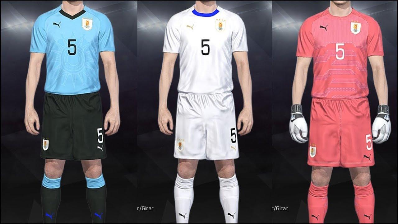 PES 2018 - Kits Uruguay 2018 PS4 07716dbb5