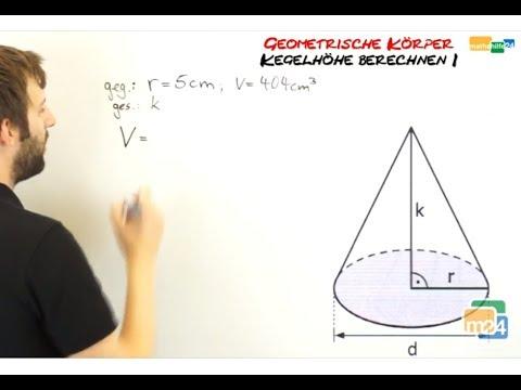 Formel zylinder hohe berechnen