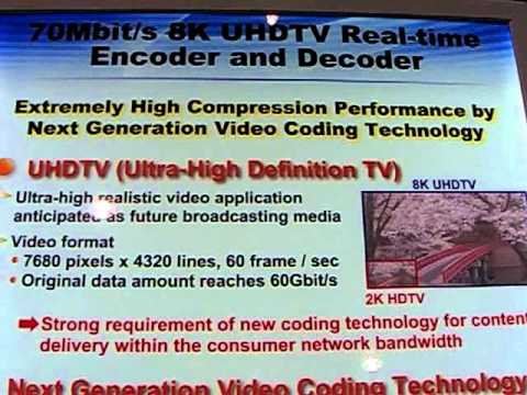 8k uhdtv ultra high definition tv 7680 x4320 60 frames s 70mbit s kddi nab 2011 2 youtube - Ultra high def tv prank ...