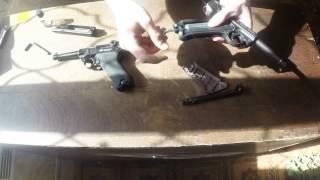Пневматический пистолет Gletcher Parabellum и GLT P 08