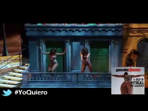 Pitbull ft Gente De Zona & dj Chino '' Yo Quiero ft Piensas ( Dile la verdad ) '' live HD