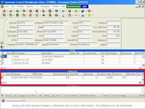 Quantum Control StockMarket - Sending RFQs from the Customer Quote Module