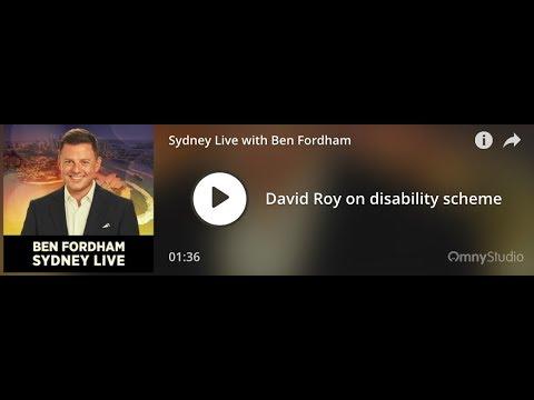 NSW Education Disability Strategy 2GB Radio 21.02.2019