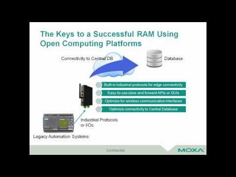 Moxa Webinar: The Trend Towards Industrial IoT in Remote Asset Management