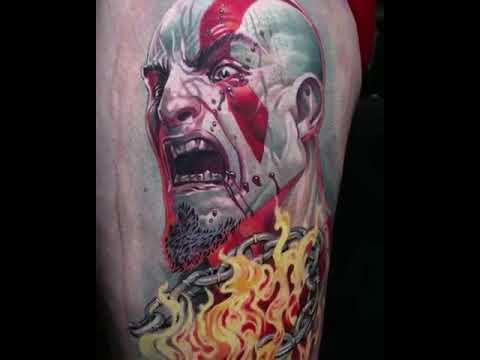 God Of War Kratos Tattoo Youtube