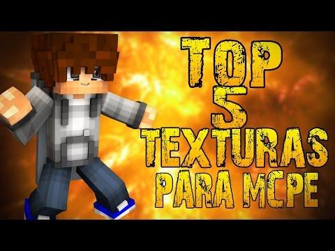 TOP 5 MEJORES TEXTURAS PARA MINECRAFT PE 0.15.x - 0.15.4 ( POCKET EDITION )   TOP TEXTURE PACKS MCPE