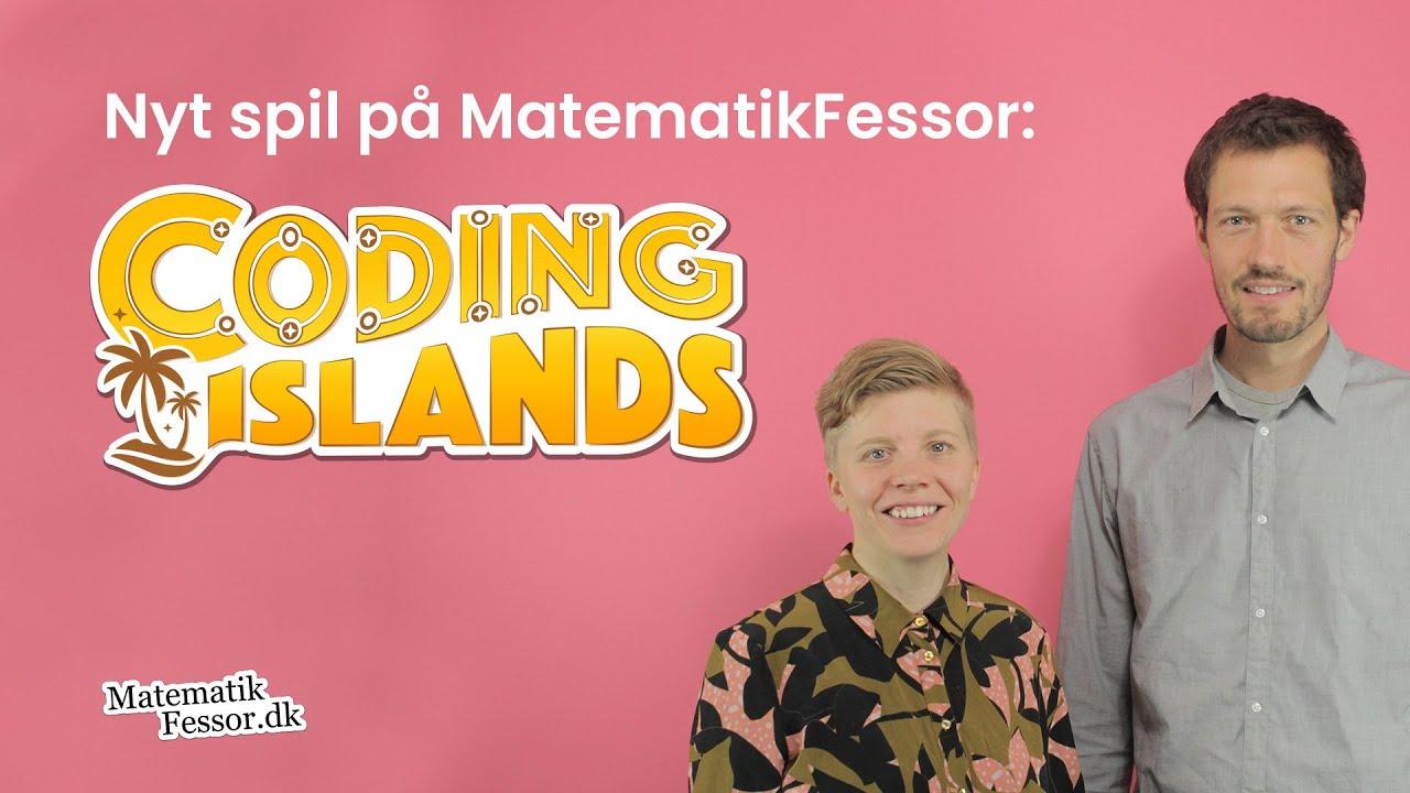 Nyt spil på MatematikFessor: Coding Islands