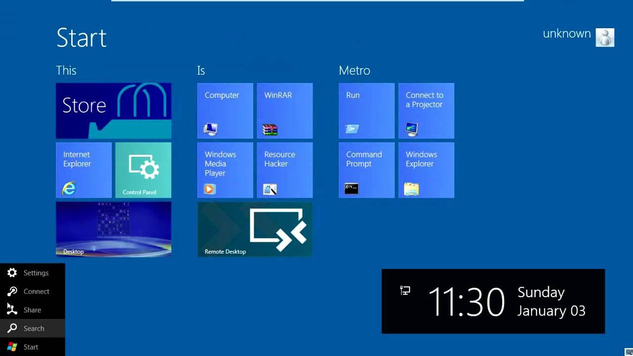 Windows 8 Build 8056 With Full Metro Start Screen Metro