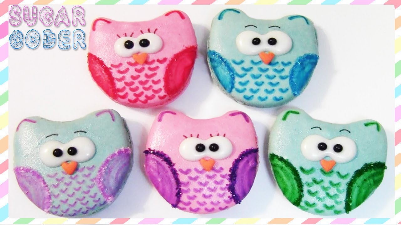 Owl Decorated Cookies Owl Macarons Owl Cookies Sugarcoder Youtube