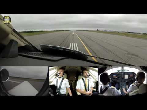 POWERFUL Takeoff for Transatlantic Crossing: Hahn Air Sovereign Jet departing Goose Bay [AirClips]