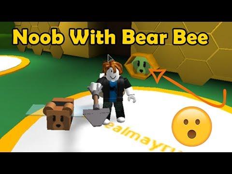Noob With Bear Bee!?! Noob To Pro - Bee Swarm Simulator