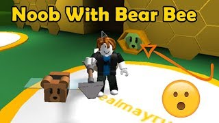 Noob With Bear Bee!?! Noob to Pro - Bee Swarm Simulator
