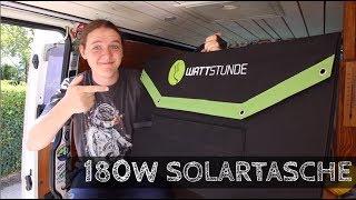 180W SOLARTASCHE von Wattstunde | Solarkoffer | Faltmodul