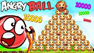 1000 КИК ЗЕ БАДИ АНТИСТРЕСС И КРАСНЫЙ ШАРИК в Энгри Бердз Red Ball 4 in Angry Birds Мультик про шар