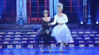 Carmen Barbieri y su bailarín, de mujer, regalaron risas con su clásico