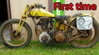Starting engine of very old motorcycles