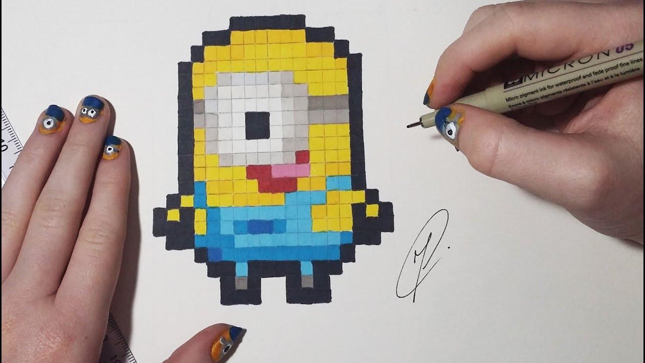 Minion Drawing Pixel Art Youtube