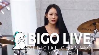 Bigo Live: Beauty Host Lily Play the Drum