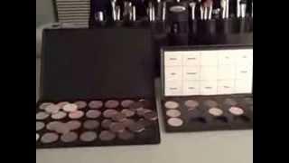 видео Палитра теней Warm 78 цветов с румянами