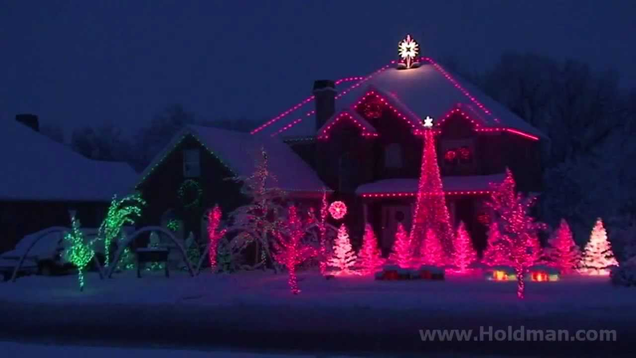 the amazing grace christmas house holdman christmas youtube - Christmas Lighthouse Decorations