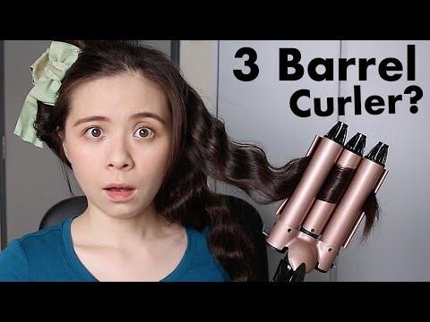 Mermaid Wave With 3 Barrel Hair Curling Iron \\ JQLeeJQ