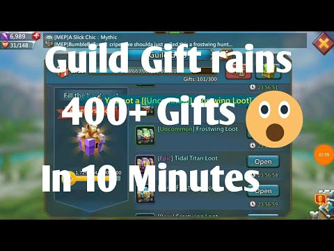 Guild Gift Rains 400+ Gifts In 10 Minutes Lords Mobile By I Am Naveen