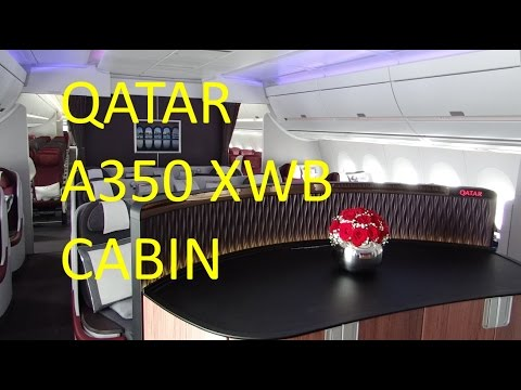 Qatar Airways A350 | Business & Economy class tour with crew rest area visit