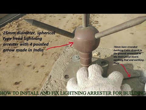 How to install and fix a Lightning Arrester for buildings