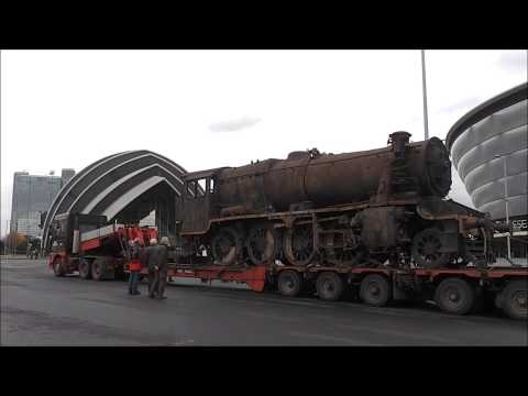 Turkish 8F Locomotive 45170 Returns to Glasgow | Finnieston Crane 13/11/14
