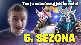 Reaction to the 5th season! Battle Pass/New map/first game (Fortnite Battle Royale CZ/SK)