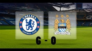 man city 6 chelsea 0 highlights