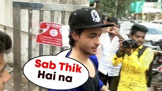 Aayush Sharma Spotted Outside A Clinic At Bandra