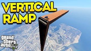 VERTICAL RAMP RACE! (GTA 5 Funny Moments!)