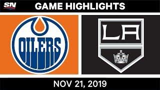 NHL Highlights   Oilers vs Kings – Nov. 21, 2019