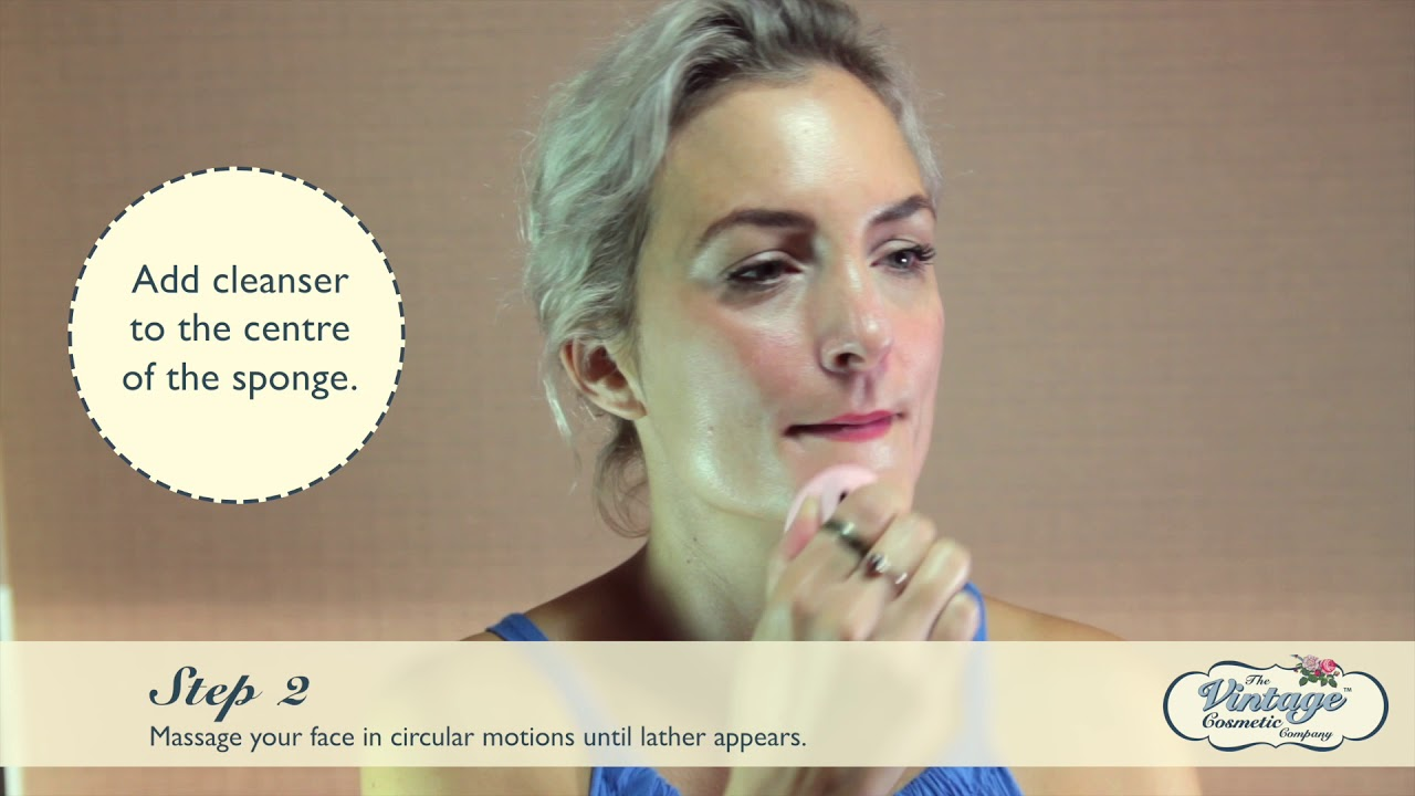 How To Use Our Face Exfoliating Sponge Youtube