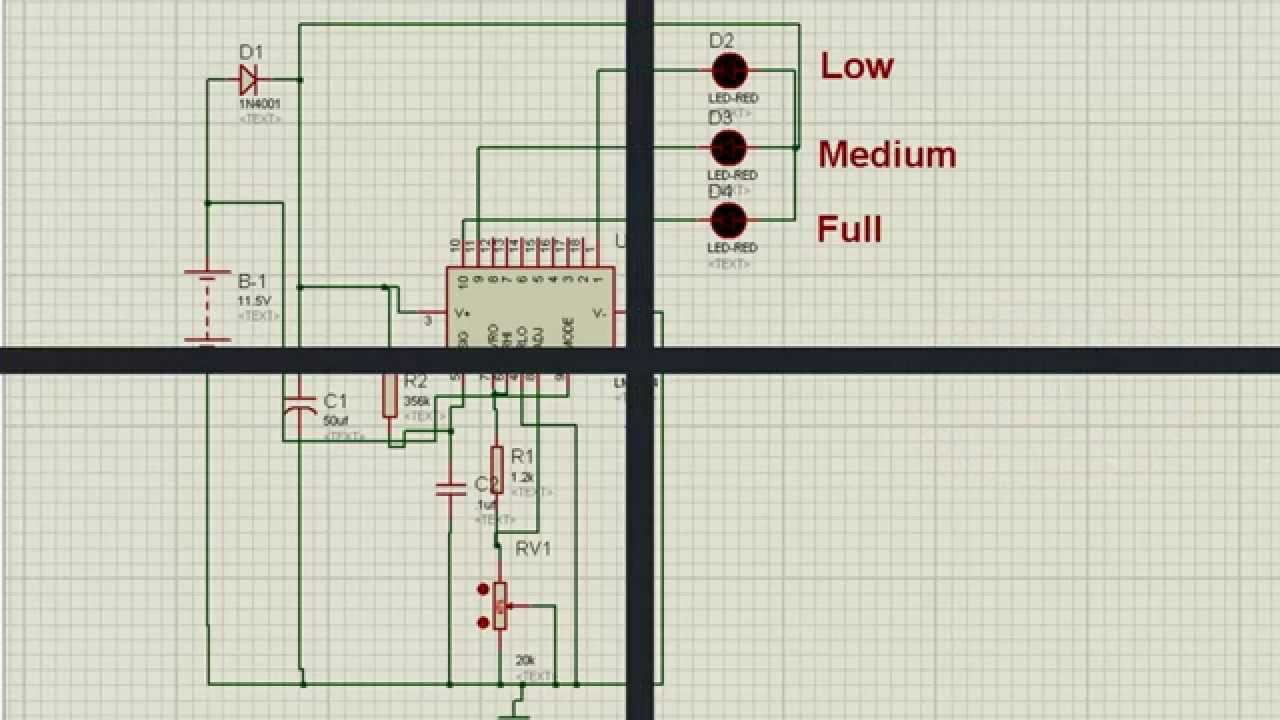 Digital Battery Voltage Level Indicator Youtube