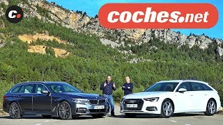 Audi A6 Avant vs BMW Serie 5 Touring 2019 | Comparativa | Prueba / Review en español | coches.net