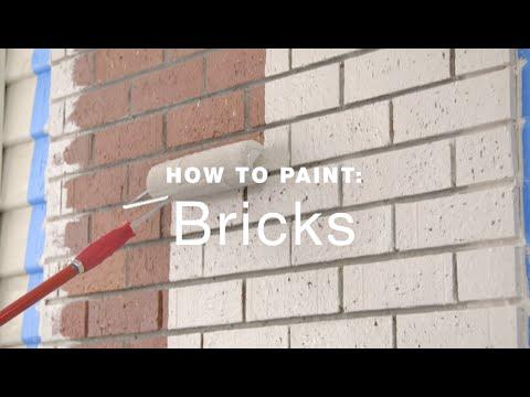 How to paint exterior brick walls?