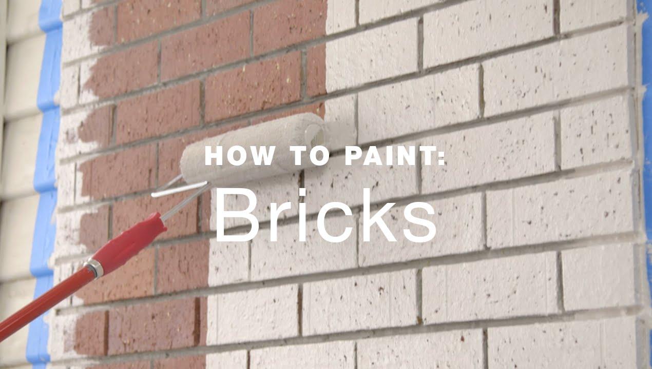 painting exterior brick veneer