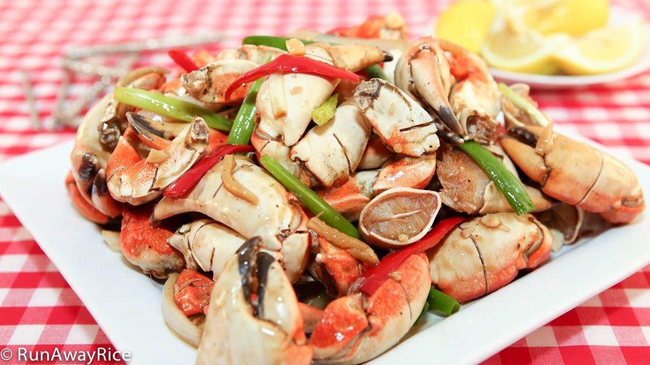 spicy stir fried crab legs cua xao gung ot youtube